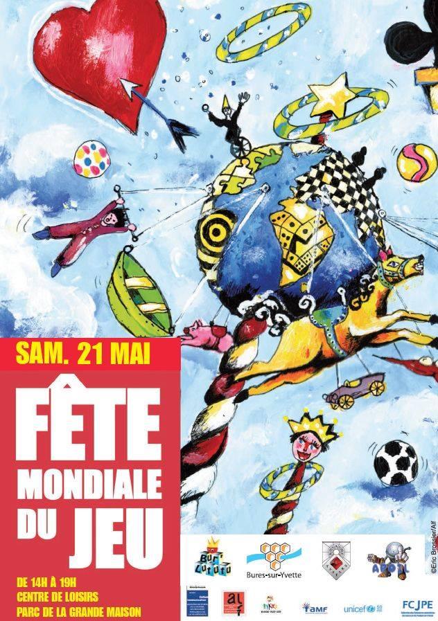 Affiche fête du jeu à Bures-sur-Yvette